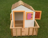 Doll Treehouse for American Girl or 18-inch Doll in Painted Pine - Stand Sold Separately
