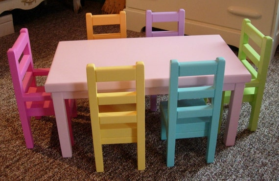 Items Similar To Doll Dining Table And Chairs Set For