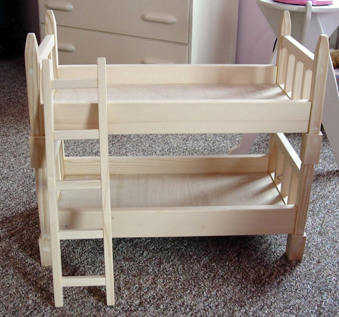 Double Doll Bunk Bed For American Girlready To Paint