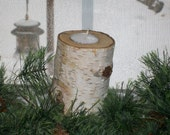 Birch Wood Candleholder -6 inches