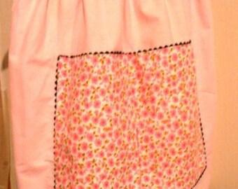 vintage apron ... Pink REVERSIBLE RICRAC VINTAGE  Apron  ...