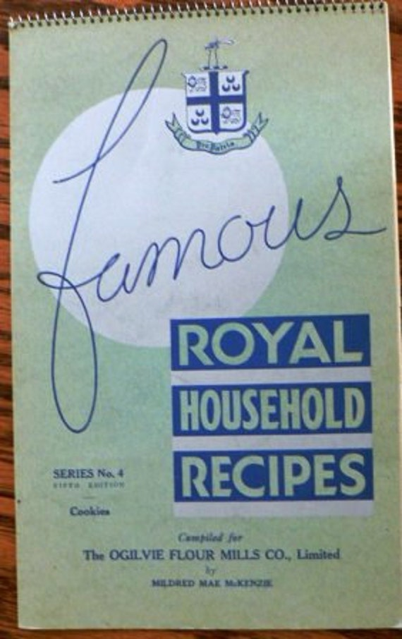 Reserved for Nicole Vintage cookbook kitsch ... Famous ROYAL HOUSEHOLD RECIPES  ...