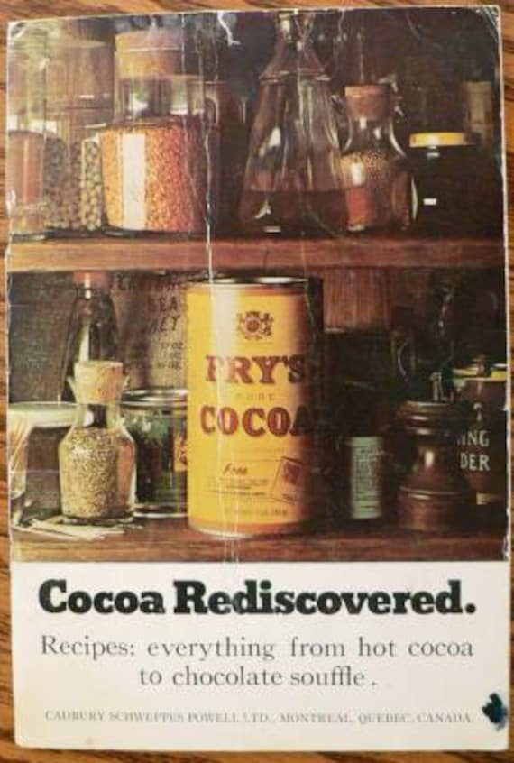 Reserved for Nicole cookbook kitsch .. COCOA REDISCOVERED COOKBOOK ...