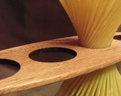 Spaghettiometer - Wood Utensil Spaghetti Measure Kitchen Gadget - Sustainable Harvest Wisconsin Wood . Timber Green Woods