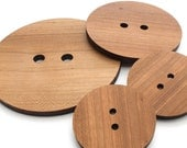 "Extra Large Wood Button Set - 4"", 3"", 2"" wood buttons laser cut from Sustainable Harvest Wisconsin Wood/ Knopfe from Timber Green Woods"