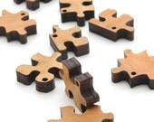 """Mini Puzzle Piece Beads - 3/4 """" Laser Cut Wood - Etsy Itsies by Timber Green Woods"""