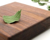 "Black Walnut Cutting Board and Chopping Block - Square ""Chocolate Slab"" - Sustainable Harvest Wisconsin Wood"