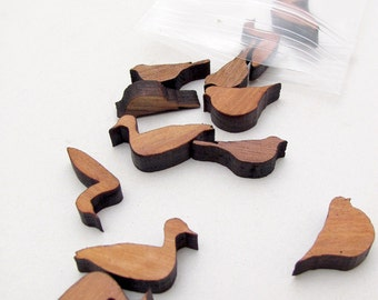 Mini Backyard Bird Charms - Laser Cut Wooden Charms - Free Shipping - Itsies by Timber Green Woods
