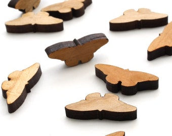 Spring Mini Butterfly Charms - Itsies - Laser Cut Wood. Timber Green Woods Sustainable Forestry Products