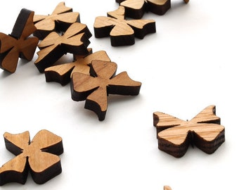 Mini Butterfly Charms - Itsies - Laser Cut Wood  Timber Green Woods Sustainable Forestry Products