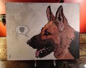 Defend - German Shepherd - Original Painting