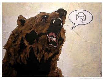 Grizzly Bear - 8x10 Art Print - Email