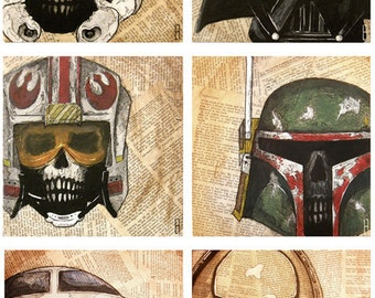 Dead Star Wars Print Set of Three (3)