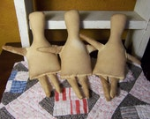 1 small Primitive cloth muslin rag doll body-forms-Folk Art dolls-blank-doll supplies