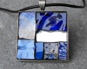 BLUE NILE - Mosaic art pendant