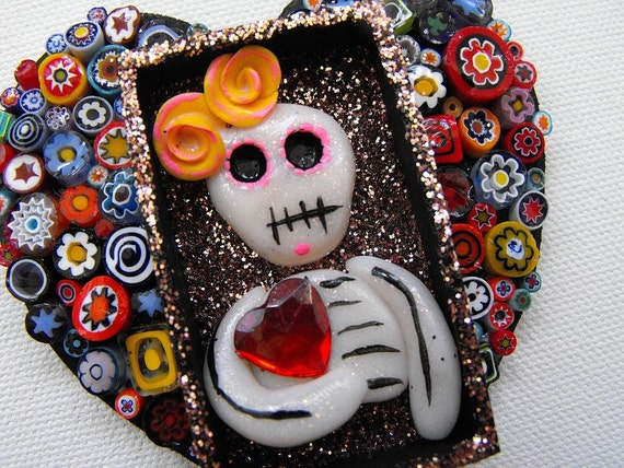 LADY LUCK - Mini Day of the Dead Shrine magnet