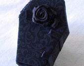 Coffin Lipstick Case, Holder, Box. Make Up Box, Mirror. EGL, Gothic, Rose. Black
