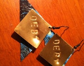 Debt- Upcycled credit card earrings