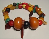 Vintage African trade bead / Talhakimt / amber necklace
