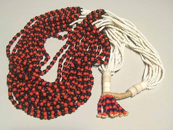 Vintage West African necklace of the Fulani tribe 3