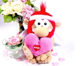 RESERVED FOR JANET. Valentine. ooak special a extraordinary red plush angel cupid Triquimoche. Valentine's Day