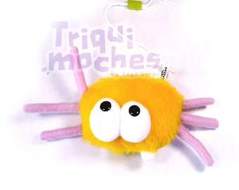 Baylie Monster Peludita . a amazing Yellow spider monster. Bug hanging plush