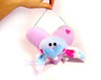 Cookie. Animaliko heart mobile. purple cute heart rabbit. special St Valentine's Day