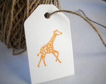 Running  Baby Giraffe Olive Wood Stamp