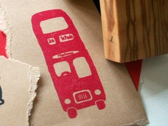 Destination Hackney, via St Pauls Olive Wood Stamp