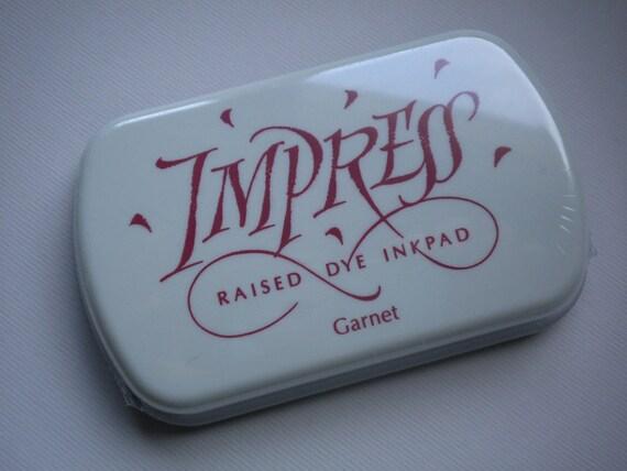 Large IMPRESS raised dye ink pad GARNET