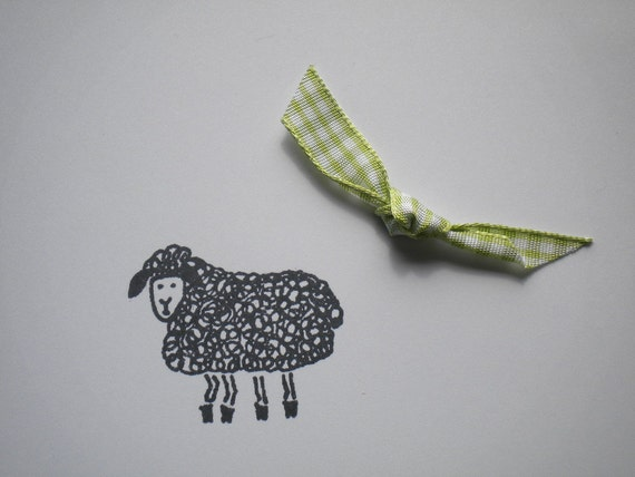 Woolly Sheep Olive Wood Stamp