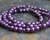 Awlays a Bridesmaid Necklace in Purple