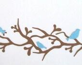 Quickutz Set of Pretty Birds on Branch Border Die Cuts