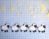 Nice Counting Sheep with Wiggly Eye Die Cuts - Bazzill