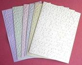 Script - Embossed Cardfronts - Set of 6 - Script