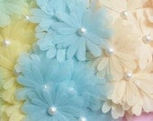 Lovely Pastel Daisy Flower Die Cuts withPearl Centers