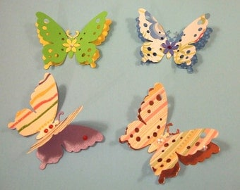 Beautiful Butterfly Die Cuts with Pearls and Swarovski Crystals