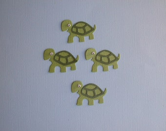 Very Cute Quickutz Bling Turtle Die Cuts with Wiggly Eyes - Set of 5