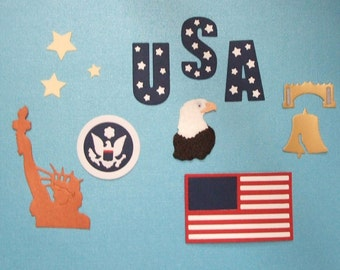 Quickutz Patriotic Collection of USA Die Cuts-July 4th-Nice
