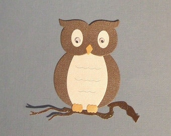 Quickutz Archivers Owl and Glittered Branch - Set of 3