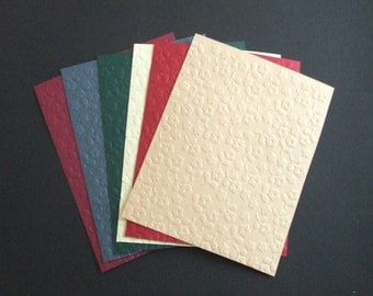 Small Flowers - Embossed Cardfronts - Set of Six