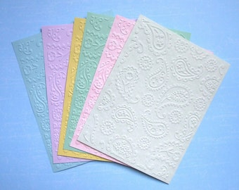 Paisley - Embossed Cardfronts - Paisley - Set of Six