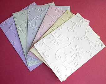 Stylized Flowers - Embossed Cardfronts - So Pretty