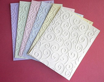 Swirls and Curls Embossed Cardfronts - Swirls and Curls - Set of 6