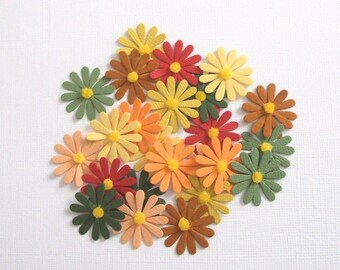 Fall Flowers - Daisy Die Cuts - Lot of 24