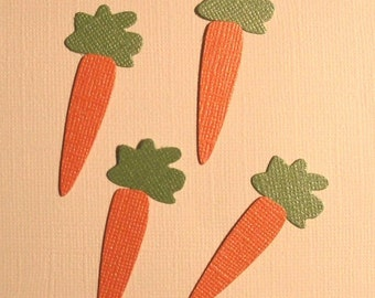 Nice Quickutz Carrot Die Cuts - Bazzill Bling - 8