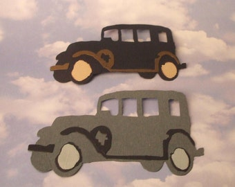 Tim Holtz Jalopy Die Cuts - Vintage Cars - Bazzill - Set of Two