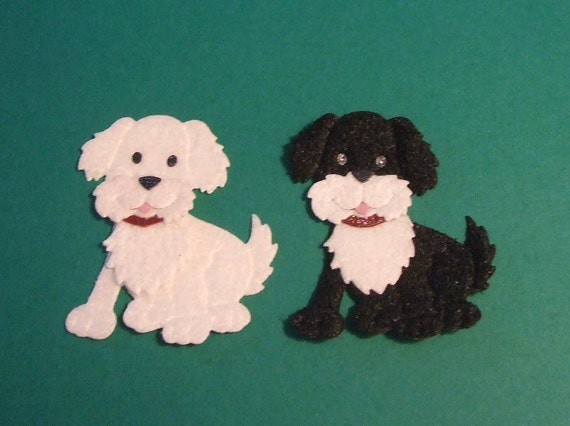 Adorable Fuzzy Puppy Dog Die Cuts - Very Sweet