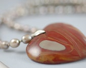 Piece of my Heart... Agate and Pearl Necklace
