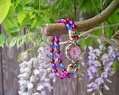 Beautiful Pink, Red, and Blue Quartz Watch, Practical and Fun